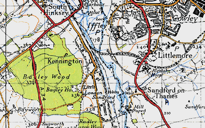 Old map of Bagley Wood in 1947