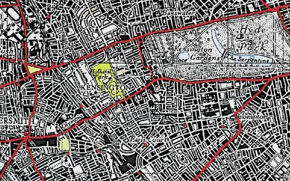 Old map of Kensington in 1945