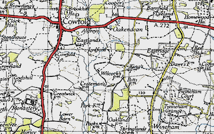 Old map of Bankfield Grange in 1940