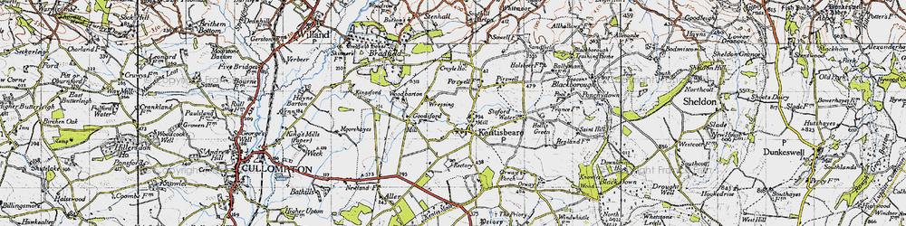 Old map of Wressing in 1946
