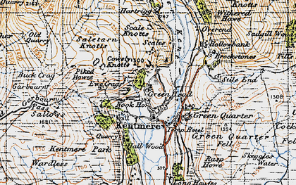 Old map of Tongue Ho (ruin) in 1947