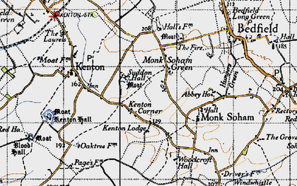 Old map of Woodcroft Hall in 1946
