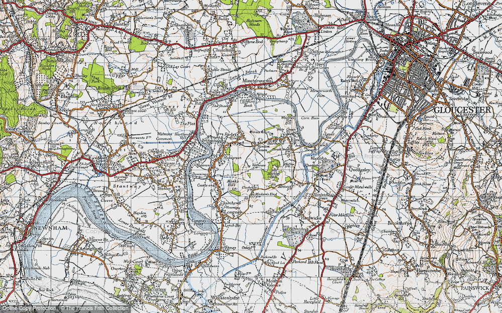 Old Map of Historic Map covering Barhouse in 1947