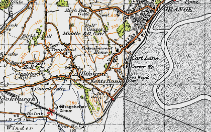 Old map of Kents Bank in 1947