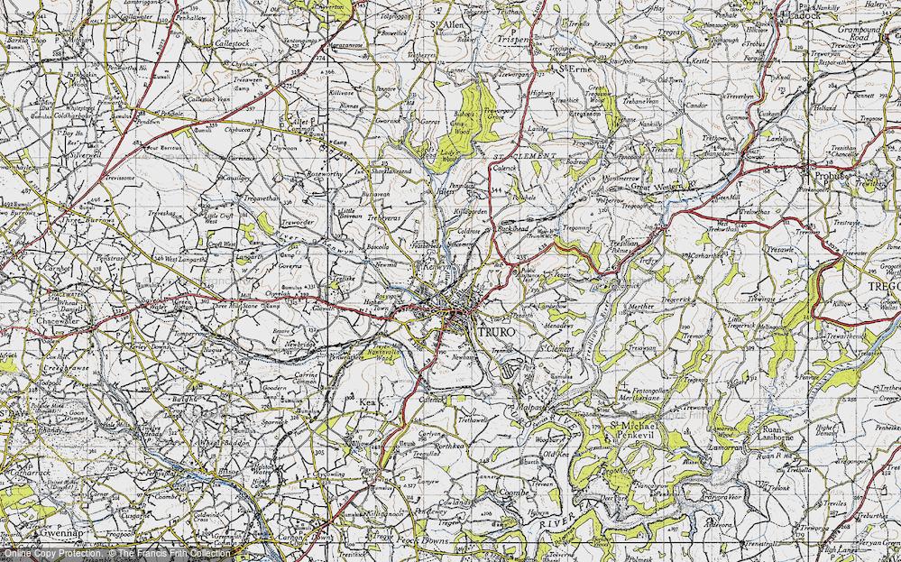Old Map of Kenwyn, 1946 in 1946