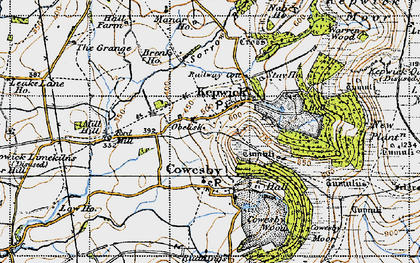 Old map of Whitestone Scar in 1947