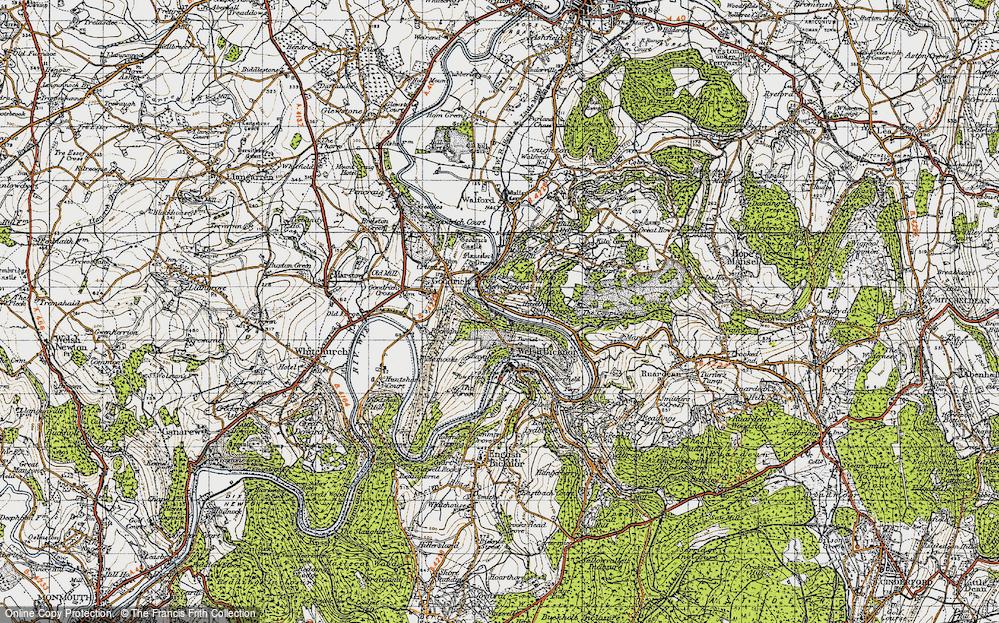 Old Map of Kerne Bridge, 1947 in 1947