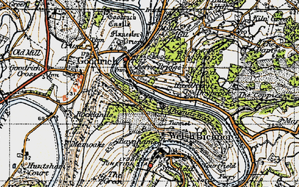 Old map of Kerne Bridge in 1947