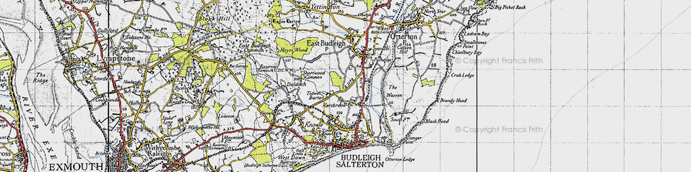 Old map of Tidwell Ho in 1946