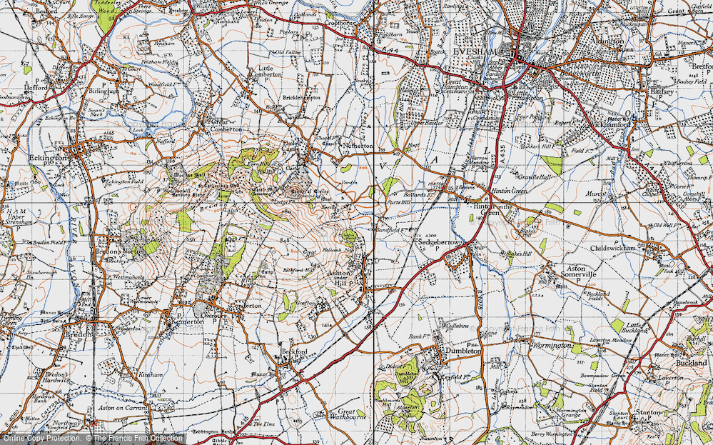 Old Map of Historic Map covering Ashton Wood in 1946