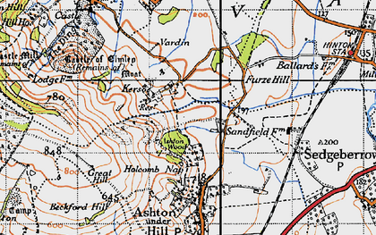 Old map of Ashton Wood in 1946