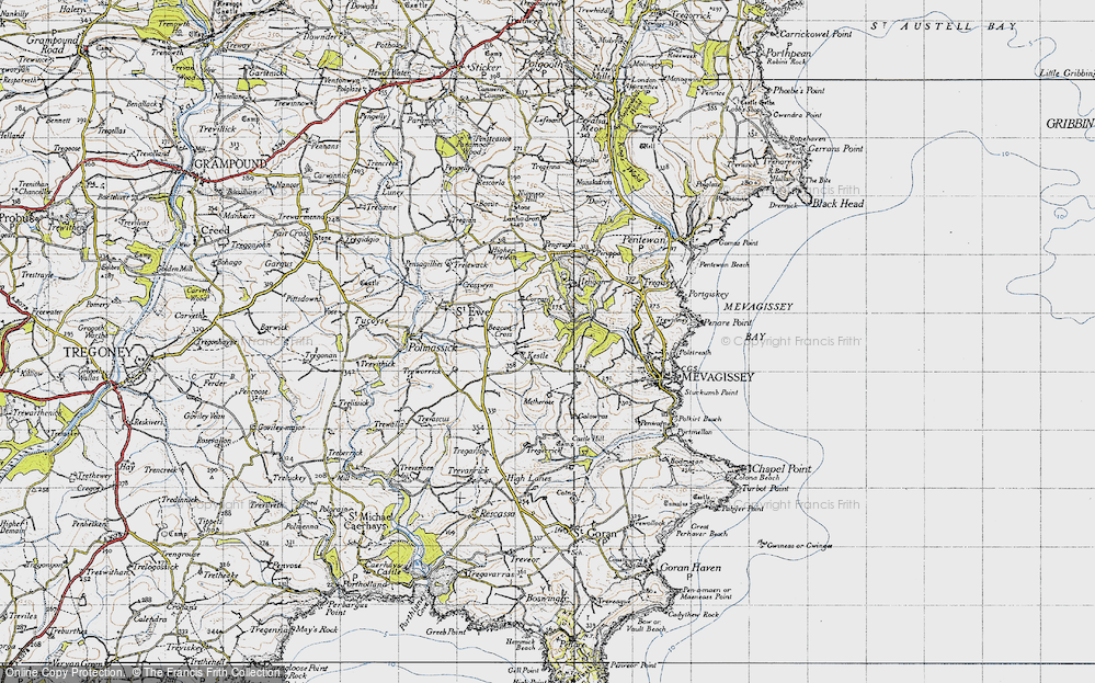 Old Map of Kestle, 1946 in 1946