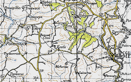 Old map of Kestle in 1946