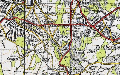 Old map of Keston in 1946