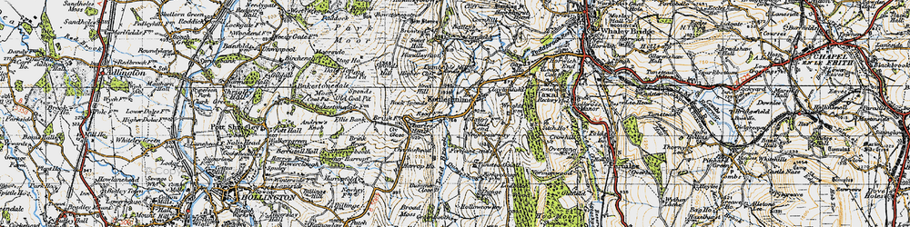 Old map of Todd Brook in 1947