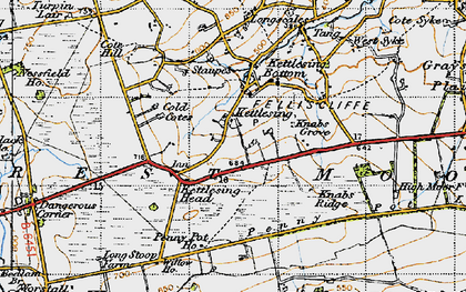 Old map of Willow Ho in 1947
