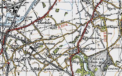 Old map of Kettlethorpe in 1947