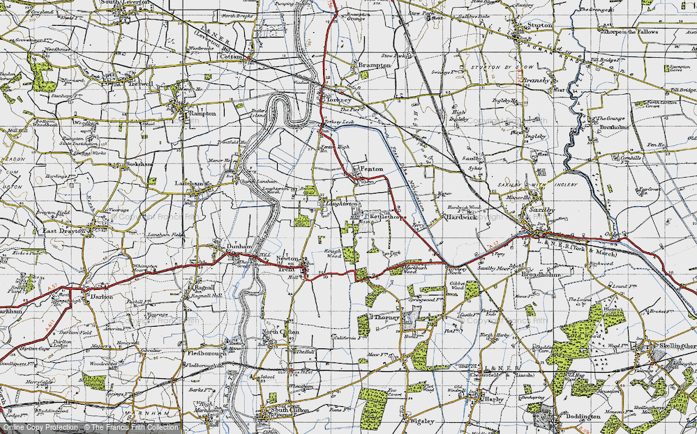 Old Map of Kettlethorpe, 1947 in 1947