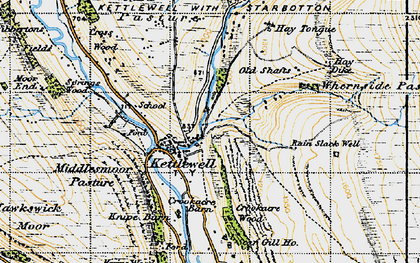 Old map of Langcliffe in 1947