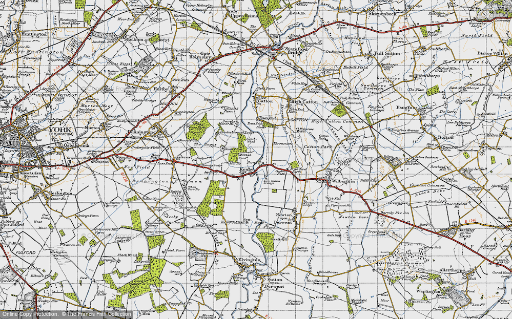 Old Map of Kexby, 1947 in 1947