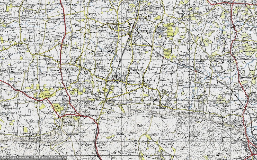 Old Map of Keymer, 1940 in 1940