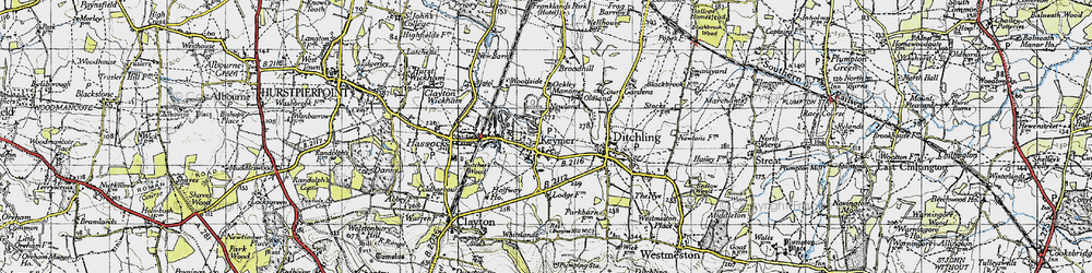 Old map of Keymer in 1940