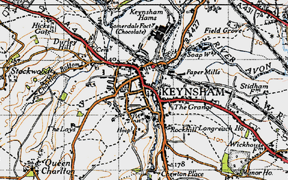 Old map of Keynsham in 1946