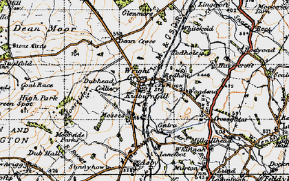 Old map of Wright Green in 1947