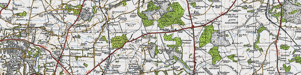 Old map of Whittle Car in 1947