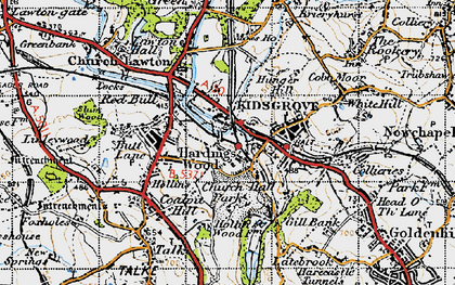Old map of Kidsgrove in 1947