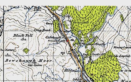 Old map of Kielder in 1947