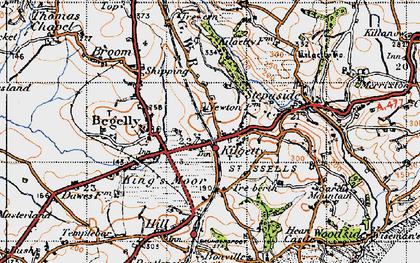 Old map of Kilgetty in 1946
