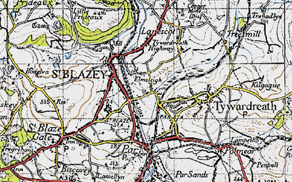Old map of Kilhallon in 1946