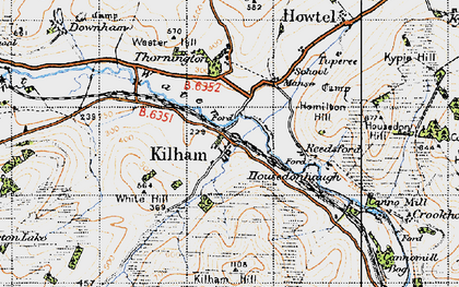 Old map of White Hill in 1947