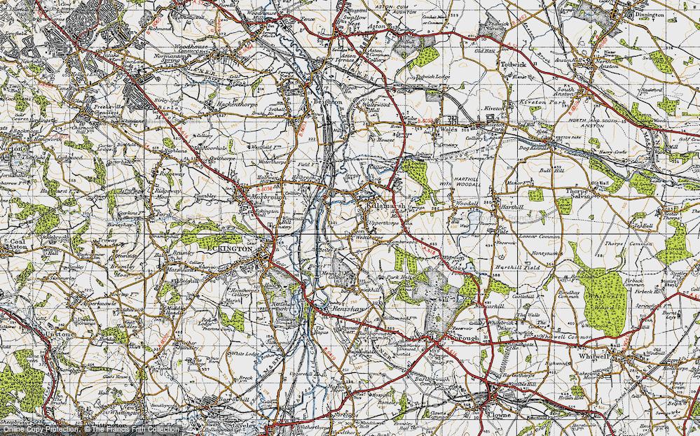 Old Map of Killamarsh, 1947 in 1947