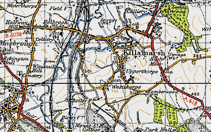 Old map of Killamarsh in 1947