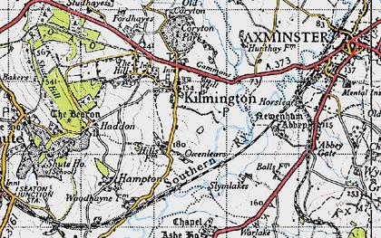 Old map of Kilmington in 1946