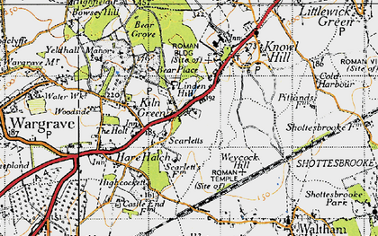 Old map of Linden Hill in 1947