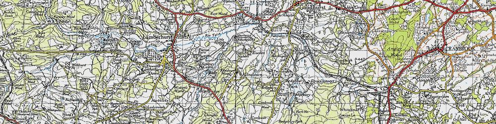 Old map of Kilndown in 1940
