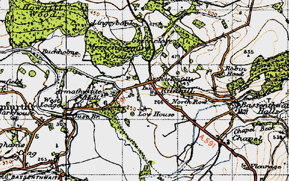 Old map of Armathwaite Hall (Hotel) in 1947