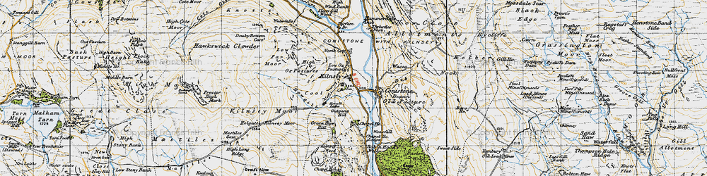 Old map of Amerdale Dub in 1947