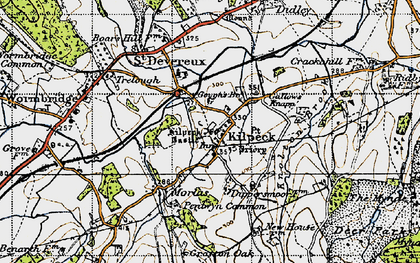 Old map of Kilpeck in 1947