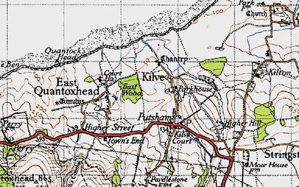 Old map of Kilve in 1946