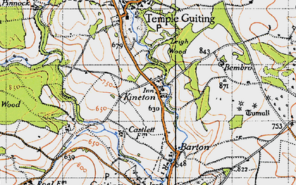 Old map of Leigh Wood in 1946