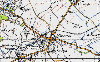 Old map of Kineton in 1946
