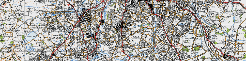 Old map of King's Heath in 1947