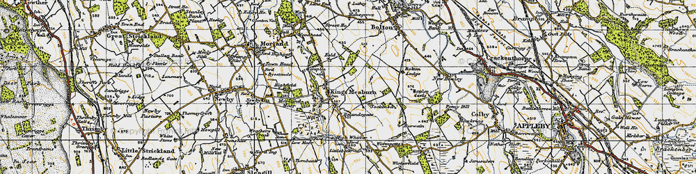 Old map of Wickerfield in 1947
