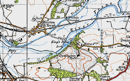Old map of Weston Grange in 1946