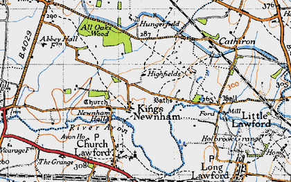 Old map of All Oaks Wood in 1946