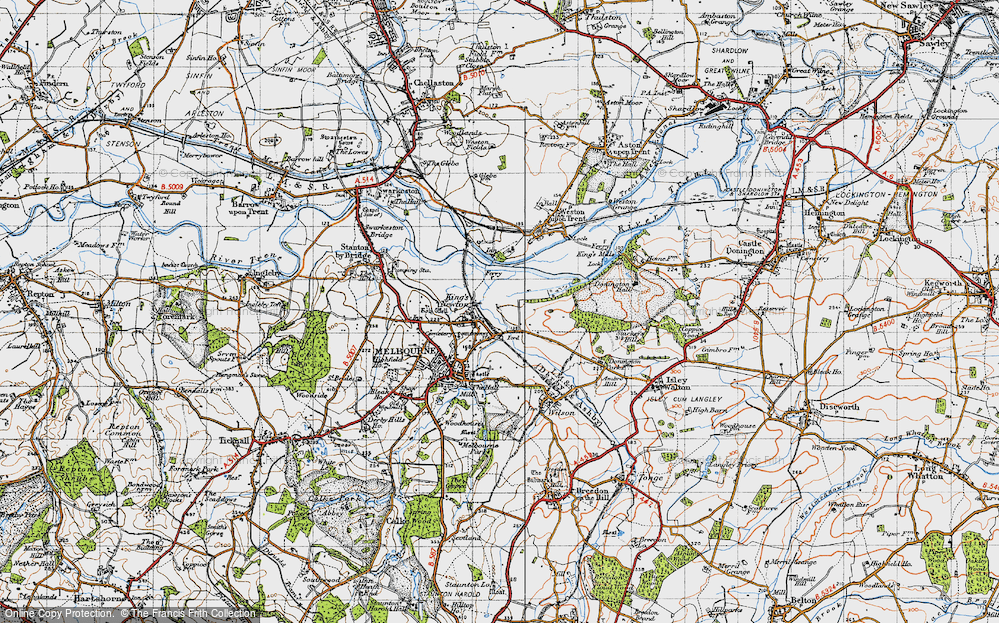 Old Map of King's Newton, 1946 in 1946